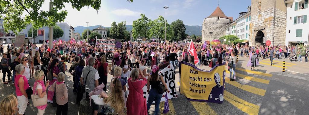 Fotografie des Demozugs in Solothurn am 14. Juni 2019